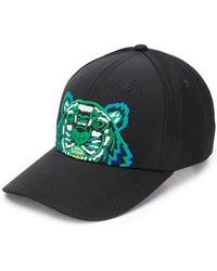 KENZO - Embroidered Tiger Logo Cap - Lyst