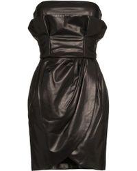 Versace - Leather Mini Dress - Lyst