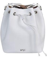 N°21 - N 21 Logo Plaque Bucket Bag - Lyst