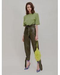 """The Attico """"greta"""" Lime Pouch - Green"""