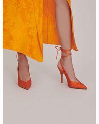 """The Attico Slingback """"Venus"""" orange ricoperte di cristalli - Arancione"""