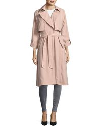 Vince Camuto - Belted Fluid Novelty Trench - Lyst