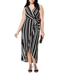 INC International Concepts | Plus Striped Sleeveless Wrap Dress | Lyst