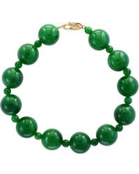 Effy - Green Jade And 14k Yellow Gold Bracelet - Lyst