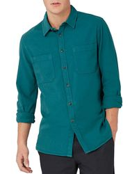 Topman | Washed Twill Sport Shirt | Lyst