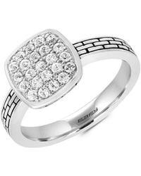 Effy - Sterling Silver White Sapphire Ring - Lyst