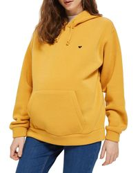 TOPSHOP - Maternity Embroidered Heart Hoodie - Lyst