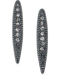 ABS By Allen Schwartz - Crystal Long Stud Earrings - Lyst