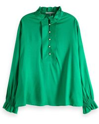 Scotch & Soda Tuniektop Met Ruches - Groen
