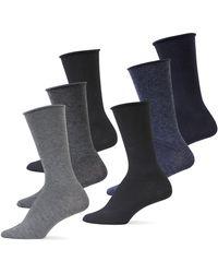 Lauren by Ralph Lauren - Six-pack Roll Top Trouser Socks - Lyst