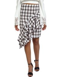 Missguided | Asymmetric Frill Skirt | Lyst