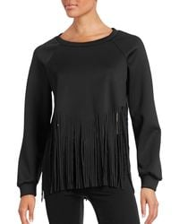 Clover Canyon - Fringe Bottom Cropped Sweater - Lyst