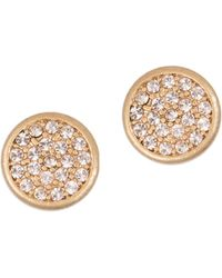 Lonna & Lilly | Basics Crystal Round Stud Earrings | Lyst