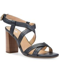 Geox - Audalies Leather Slingback Sandals - Lyst