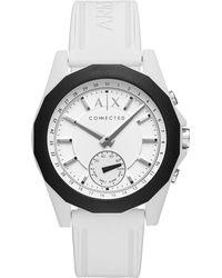 Armani Exchange - Chronograph Drexler Silicone Strap Watch - Lyst