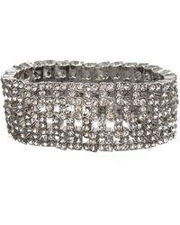 Anne Klein | Wide Stretch Bracelet | Lyst