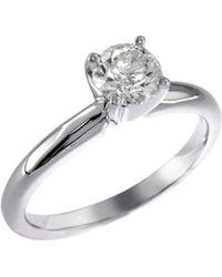 Effy - 14k White Gold 0.75ct Diamond Engagement Ring - Lyst