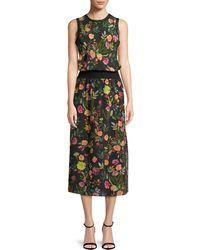 Theory | Lewie Floral Silk Dress | Lyst
