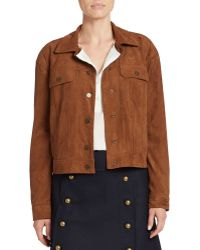 424 Fifth - Faux Suede Snap-front Jacket - Lyst