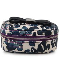 Anne Klein - Printed Cosmetics Case With Bow - Lyst