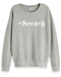 Scotch & Soda - Burn-out Artwork Sweater - Lyst