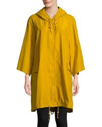 Eileen Fisher - Three-quarter Sleeve Anorak Light Organic Cotton Nylon - Lyst