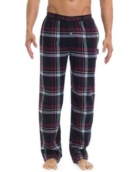 Joe Boxer - Plaid Flannel Pajama Pants - Lyst