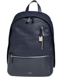 Skagen - Kroyer Leather-trimmed Coated Canvas Backpack - Lyst