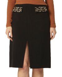 Dorothy Perkins - Embellished A-line Skirt - Lyst