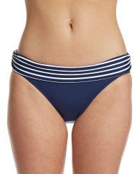 Chaps - Seaside Stripe Banded Hipster Swim Bottom - Lyst