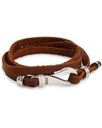 John Zack | Triple-wrap Leather Bracelet | Lyst
