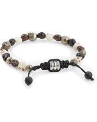 John Zack - Skull Multi-bead Bracelet - Lyst