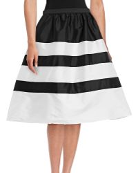 Adrianna Papell - Taffeta Striped Party Skirt - Lyst