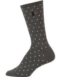 Lauren by Ralph Lauren - Pindot Trouser Socks - Lyst