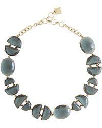 BCBGMAXAZRIA - Geometric Stone Mix Necklace - Lyst