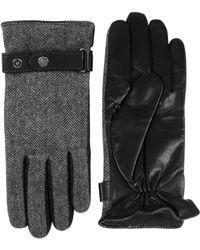 Black Brown 1826 - Herringbone Leather Gloves - Lyst