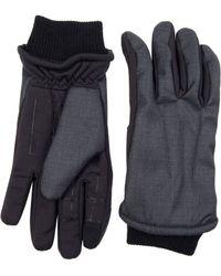 Dockers - Mixed Media Fleece-lined Gloves - Lyst