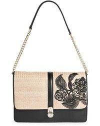 Karl Lagerfeld | Blanche Straw Shoulder Bag | Lyst