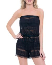 Blush By Profile - Taboo Romper Swim Cover Up - Lyst