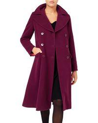Jacques Vert - Fit-and-flare Double-breasted Coat - Lyst