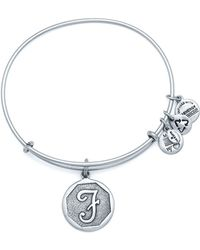 ALEX AND ANI - Initial F Charm Bangle - Lyst