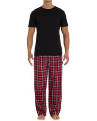 Joe Boxer - Two-piece Flannel Pants And T-shirt Set - Lyst