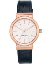 Nine West - Analog Rose Goldtone And Faux Leather Watch - Lyst
