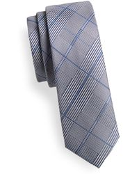 1670 - Plaid Slim Tie - Lyst