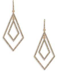 ABS By Allen Schwartz - Crystal Diamond-shaped Drop Earrings - Lyst
