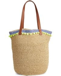 Lord & Taylor | Pom Pom Paper Tote Bag | Lyst