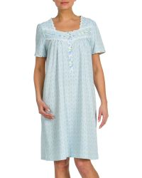 Jasmine Rose - Lace-trim Printed Nightgown - Lyst