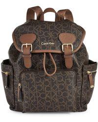 CALVIN KLEIN 205W39NYC - Hudson Monogrammed Backpack - Lyst