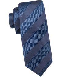Black Brown 1826 - Textured Striped Silk Tie - Lyst