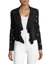 INC International Concepts | Drape Front Lace Jacket | Lyst